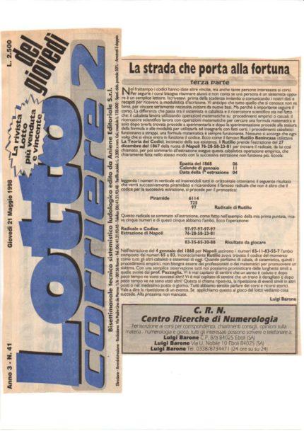Lotto corriere 2