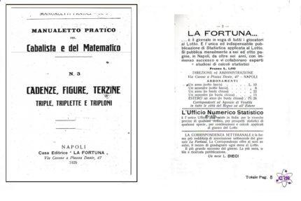 Manualetto pratikodel Cabalista e del matematico Cadenze e Figure Terzine