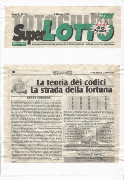 Toto Guida Super Lotto 1999-1